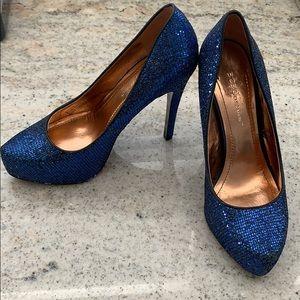 2/20 BCBG Blue Sparkle heels